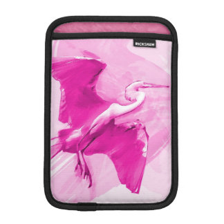 Egret Flying On The Sky, iPad Sleeve