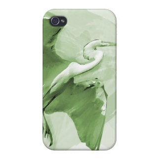 Egret Flying On The Sky, iPhone Case