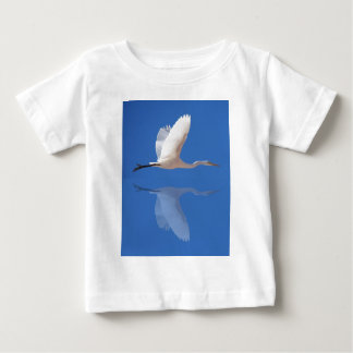 Egret flying tee shirt