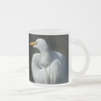 Egret Heron Bird Wildlife Animal Photography Frosted Glass Coffee Mug