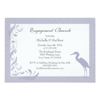 Egret / Heron Engagement Brunch Card