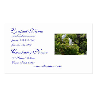 Egret in a Tree Business Card