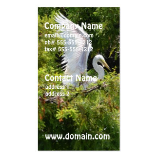 Egret in a Tree Business Card Template