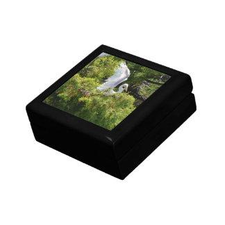 Egret in a Tree Keepsake Box
