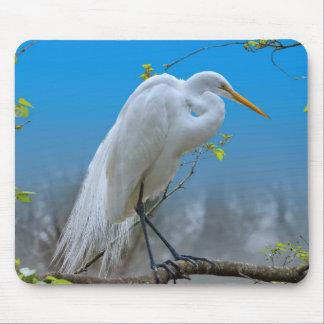 Egret in a Tree Mousepad