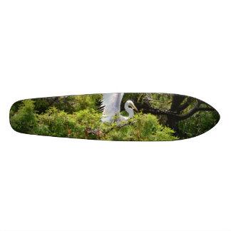 Egret in a Tree Skateboard