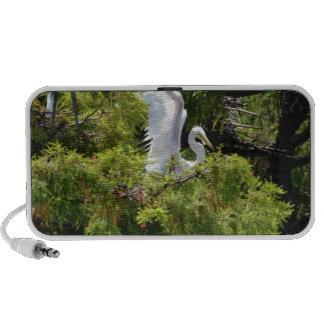 Egret in a Tree Mp3 Speaker