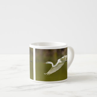 egret in flight espresso cup
