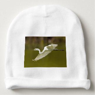 egret in flight baby beanie