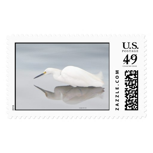 Egret in Mist copyright 2005 - Customized Postage Stamp