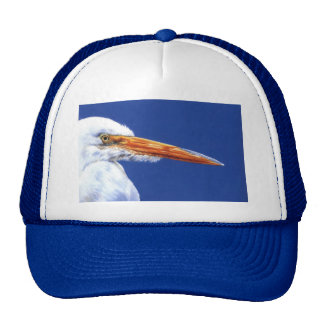 Egret in Profile by Cindy Agan Trucker Hat