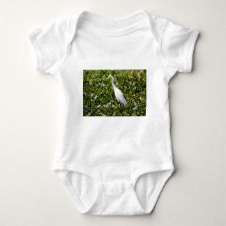 Egret in the Grass Baby Bodysuit
