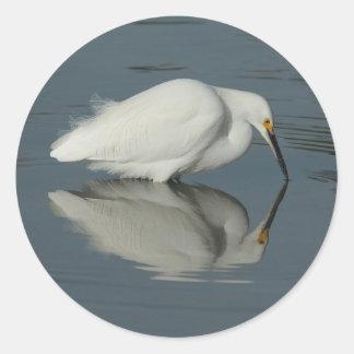 Egret in the Lake 2 Sticker