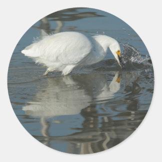 Egret in the Lake 5 Sticker Sticker