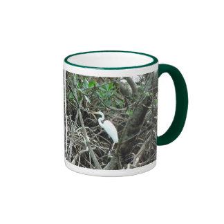 Egret in the Mangroves Ringer Mug