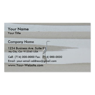 Egret In The Water Double-Sided Standard Business Cards (Pack Of 100)