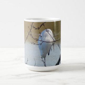Egret in Tree Coffee Mug