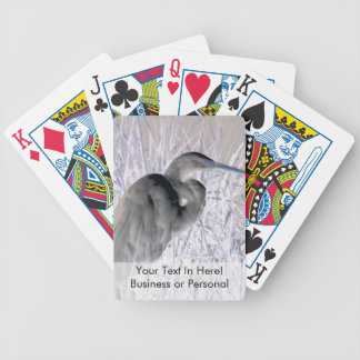 egret invert bw haunted bicycle playing cards