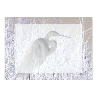 egret invert bw haunted card