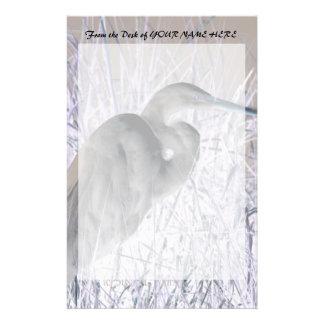 egret invert bw haunted stationery