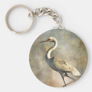 Egret Key Chain