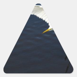 Egret landing.jpg de la rotura pegatina triangular