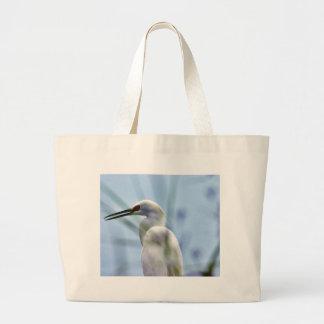 Egret Large Tote Bag