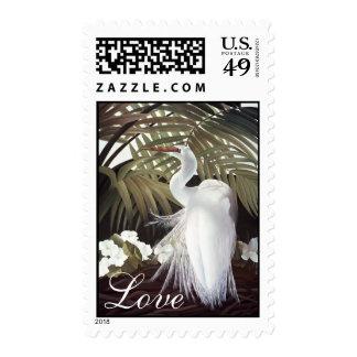 """Egret """"Love"""" Stamp"""