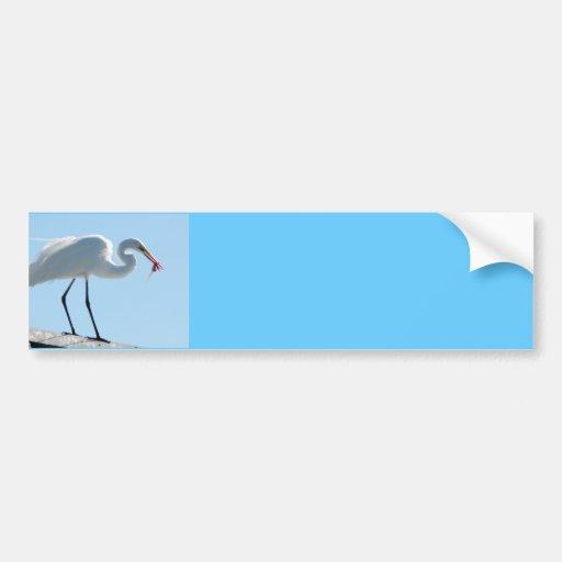 Egret Lunch Bumper Sticker