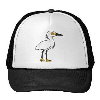 Egret nevado de Birdorable Gorra