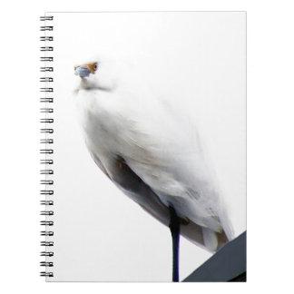 Egret nevado elegante y hermoso libro de apuntes