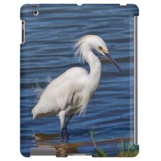 Egret nevado en la charca funda para iPad