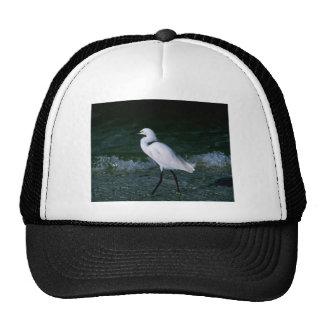 Egret nevado gorro de camionero