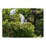 Egret nevado invitación 12,7 x 17,8 cm