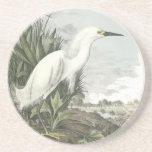 Egret nevado, Juan Audubon Posavasos Manualidades
