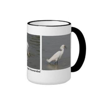 Egret nevado tazas