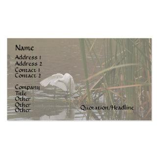 Egret on Reeds Business Card