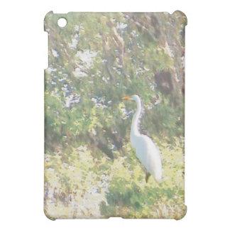 egret on shoreline iPad mini covers