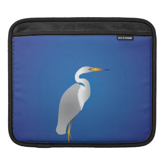 Egret on the Beach Sleeves For iPads