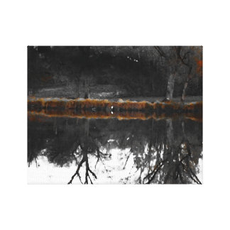 """Egret on """"Walden"""" I Canvas Print"""