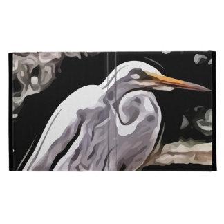 egret painting iPad folio case