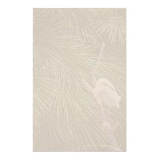 Egret & Palm Fronds Stationery