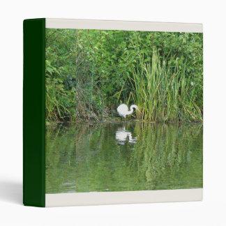 Egret & Pond Reeds Avery Binder