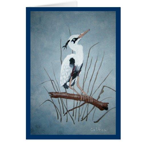 Egret por la caza de Colton Tarjeta De Felicitación