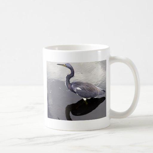 Egret reflejado taza clásica
