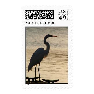 Egret Stamp
