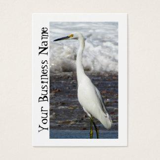 Egret Standing Tall Business Card