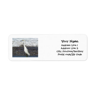 Egret Standing Tall Label