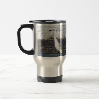 Egret Standing Tall Travel Mug
