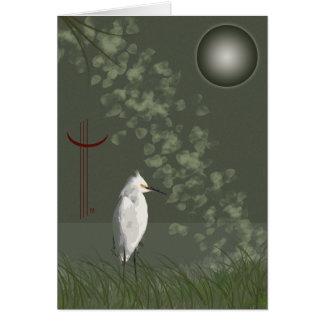 Egret también tarjeta de felicitación